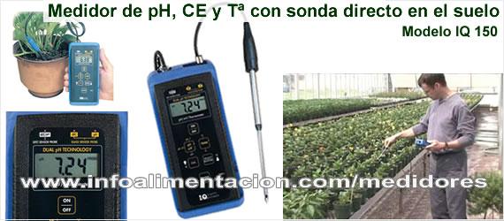 Medidor de ph conductividad y temperatura del suelo iq 150 for Medidor ph tierra